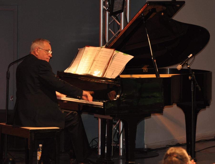 David Short at 'grand' piano
